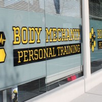 signage for fitness studio