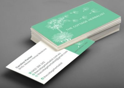 The Cottage Herbalist business cards
