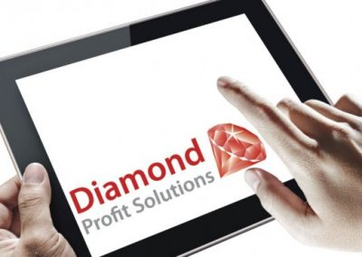"""Diamond Profit Solutions"" identity design"