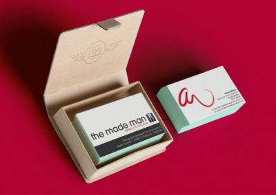 The Made Man business cards