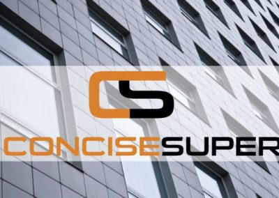 """Concise Super"" identity design"