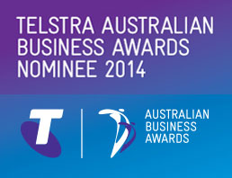 Telstra Business Awards Nominee 2014 & 2015