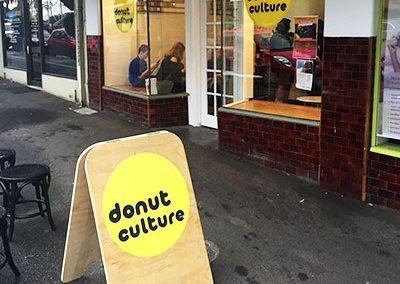 Donut Culture Pop up shop frontage